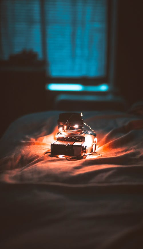 Lighted Lights on Bed