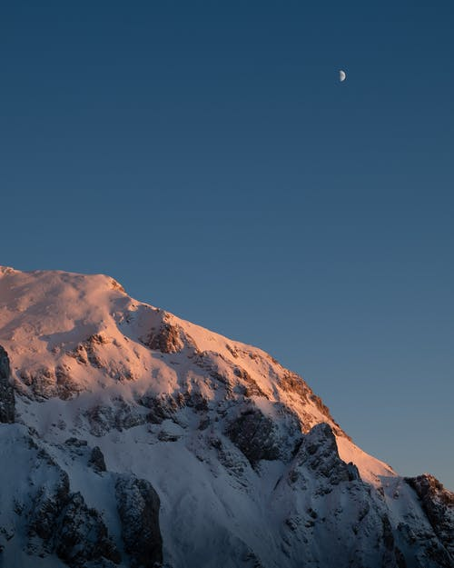 Snowy Mountain Photograph