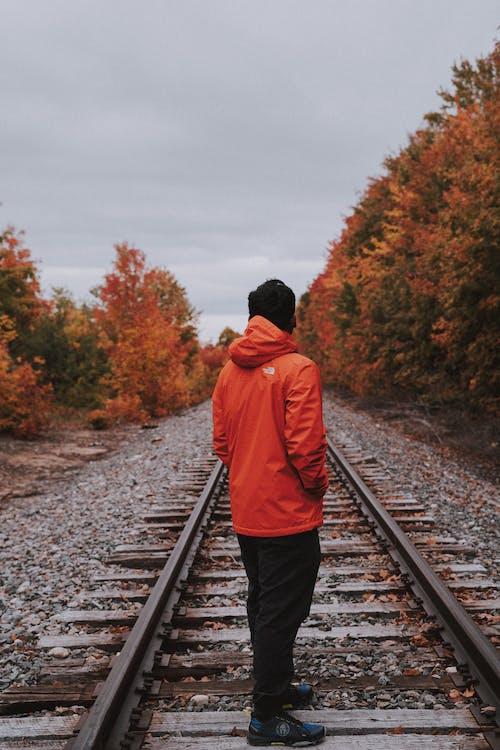Ilmainen kuvapankkikuva tunnisteilla aikuinen, henkilö, idyllinen, junarata