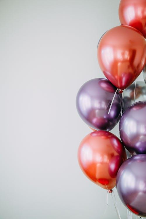 блестящий, воздушные шары, нити
