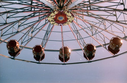 Low-angle Photography of Amusement Ride