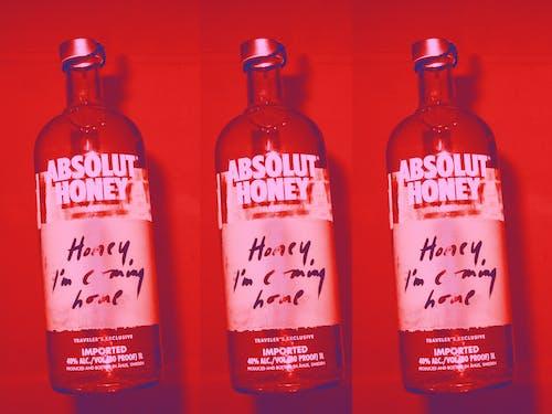 Foto stok gratis abstrak, alkohol, botol alkohol, merah