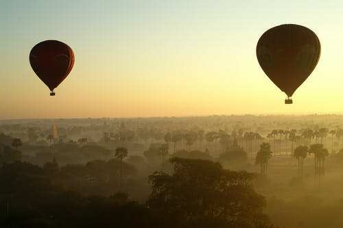 Two Hot Air Balloons on Air