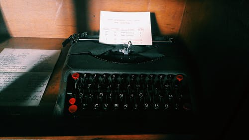 Paper on Black Typewriter