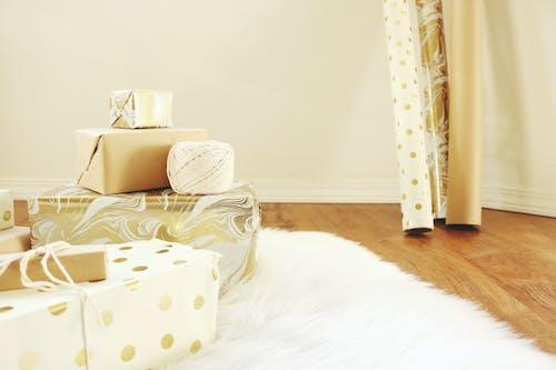 假日, 內部, 包裝, 包裝紙 的 免费素材照片