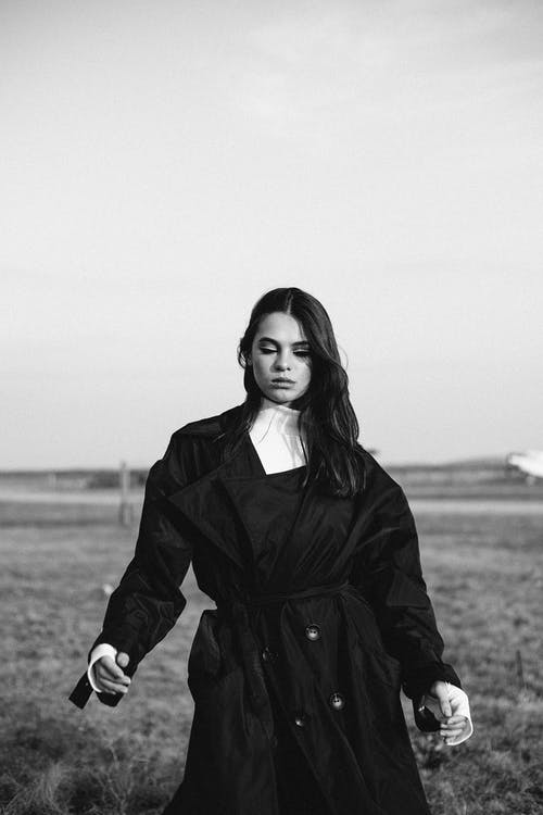 Photo Of Woman Wearing Black Coat