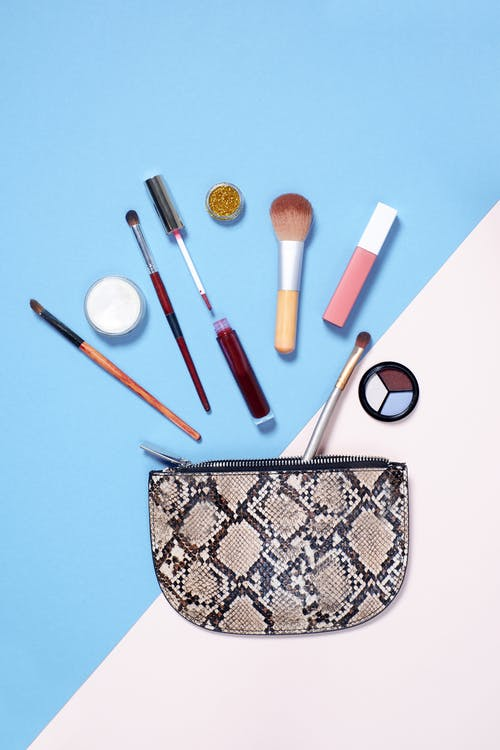 Pouch With Several Makeup