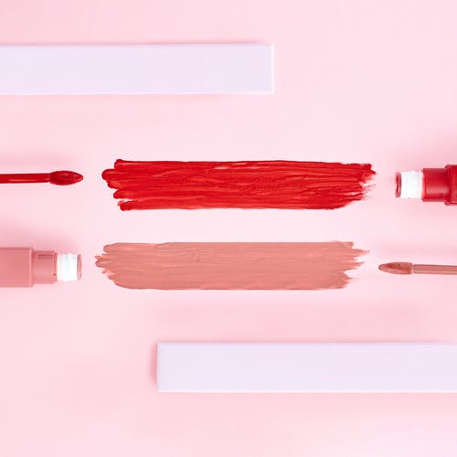 Red and Nude Lipsticks