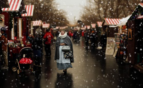 Free stock photo of Christmas Village woman people