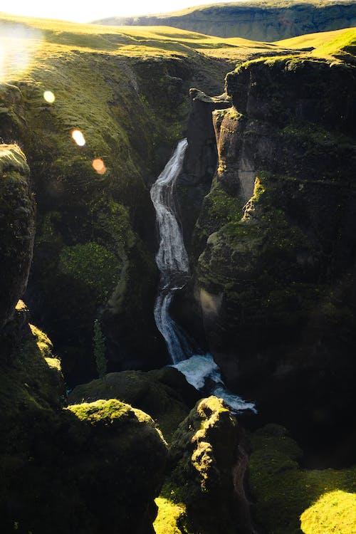 골짜기, 모험, 물, 아이슬란드의 무료 스톡 사진