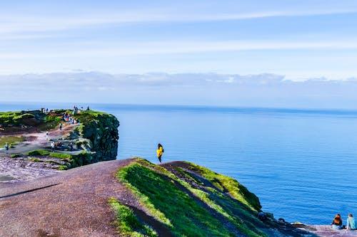 Free stock photo of Blue ocean, blue sea, blue skies, cliffs