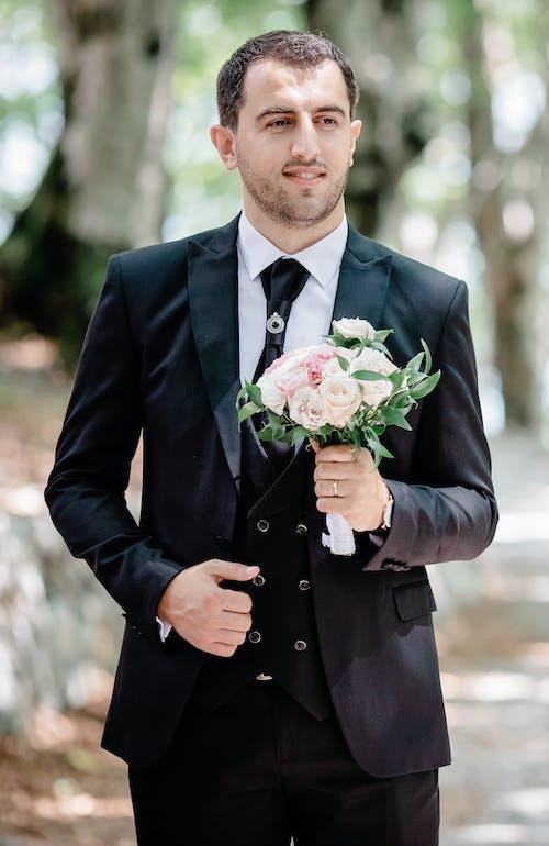 격식 있는, 꽃, 꽃꽂이, 남성의 무료 스톡 사진