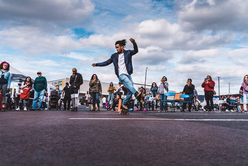 Time Lapse Photography of Man Dancing in the Street