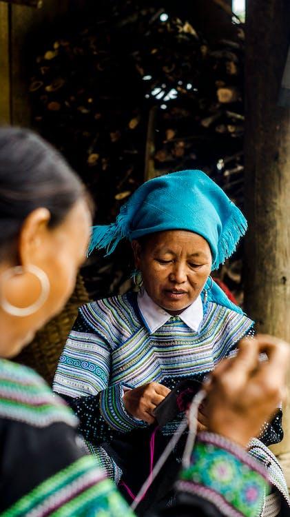 Women Making Knitted Wear
