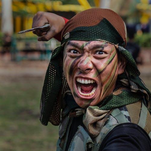 Foto profissional grátis de exército, retrato