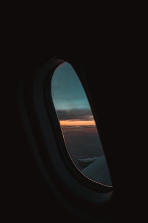 Free stock photo of adventure, air travel, airplane window