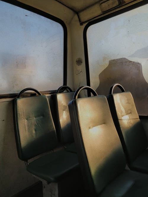 Four Gray Vehicle Seats