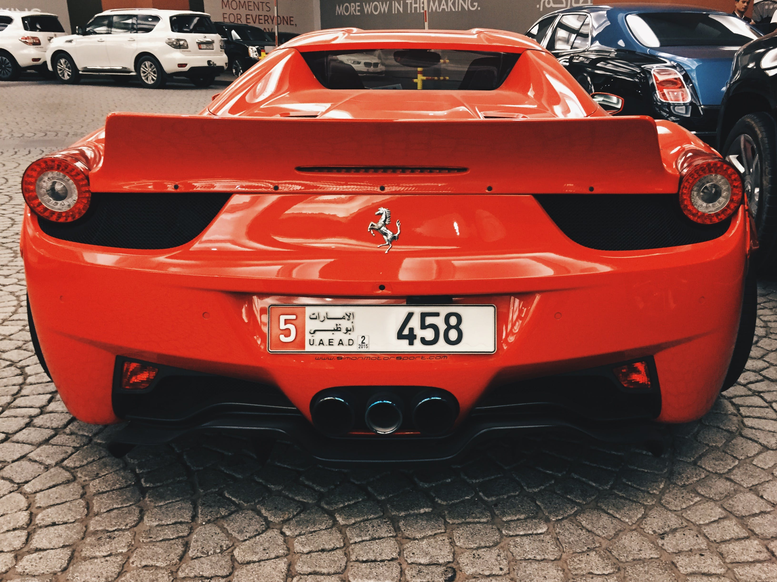 Free stock photo of car, dubai, 458, ferarri