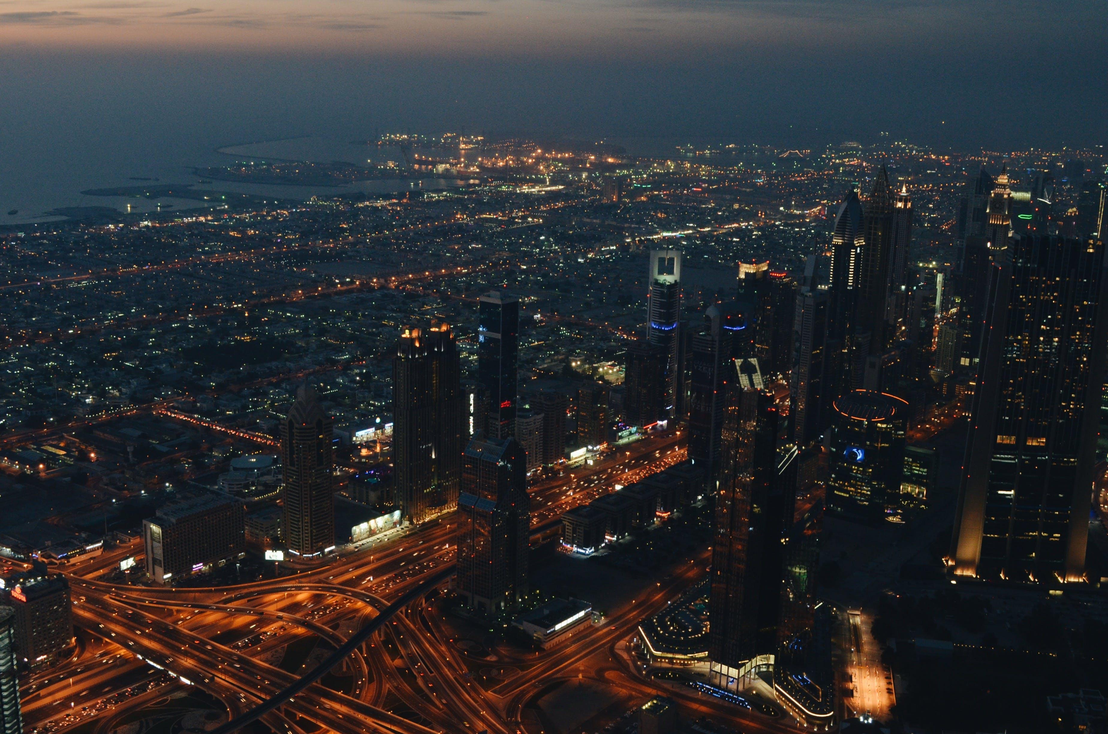 Δωρεάν στοκ φωτογραφιών με Νύχτα, νυχτερινή ζωή, ουρανοξύστες, ουρανοξύστης