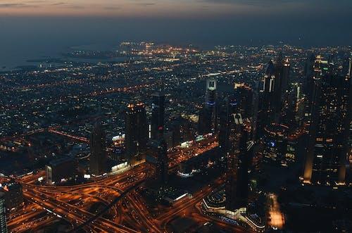 Fotos de stock gratuitas de ciudad, Luces de noche, noche, rascacielos
