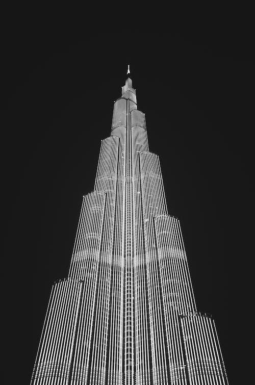 bakış açısı, bina, Burj Khalifa, bürolar içeren Ücretsiz stok fotoğraf