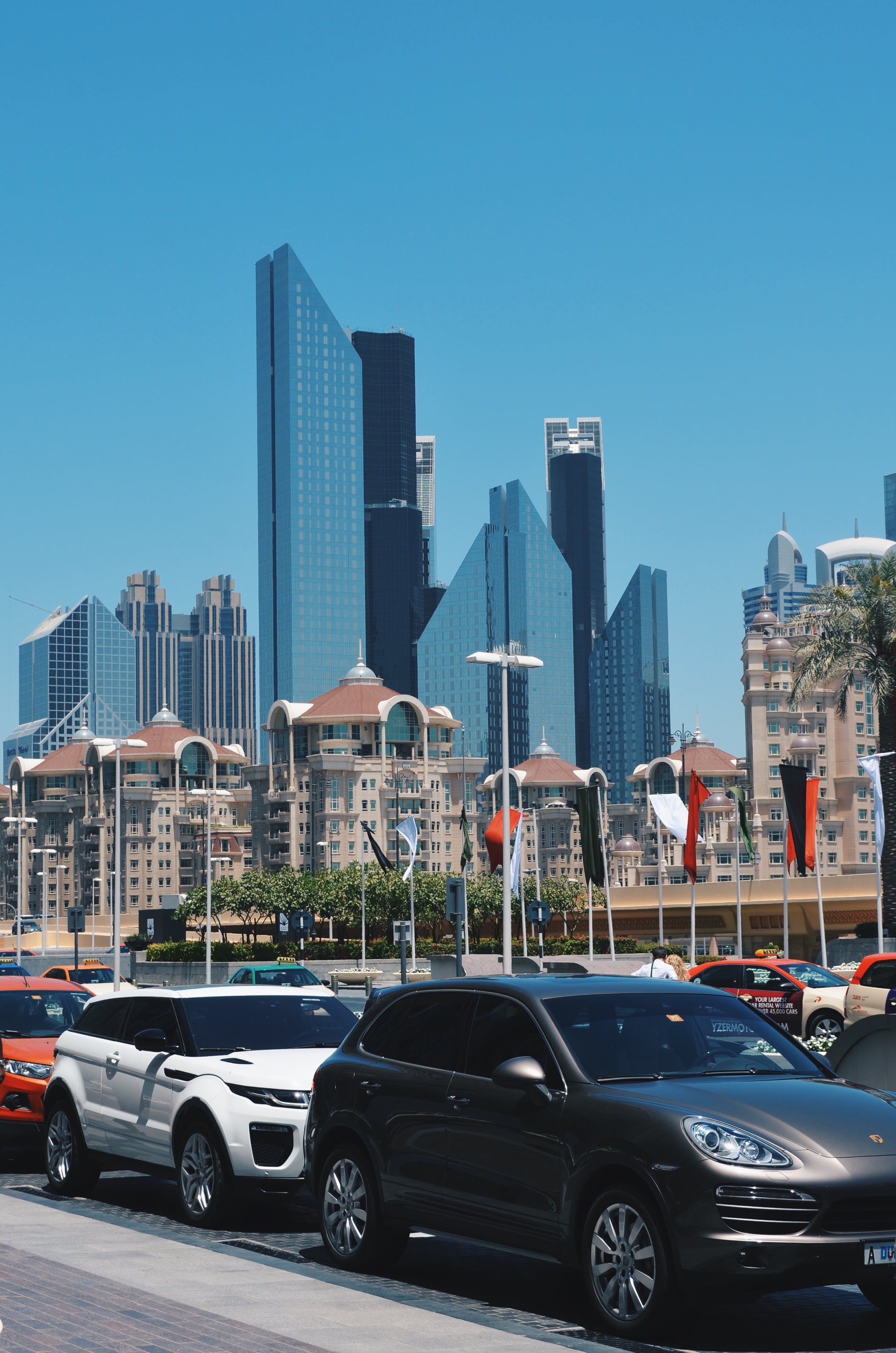 Free stock photo of city, porsche, mall, skyscraper