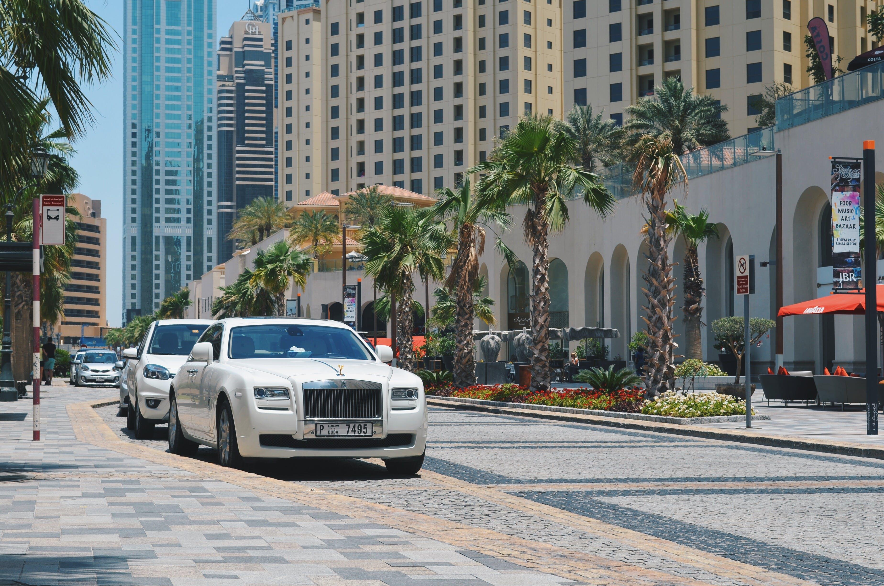 Free stock photo of car, city, dubai, luxury