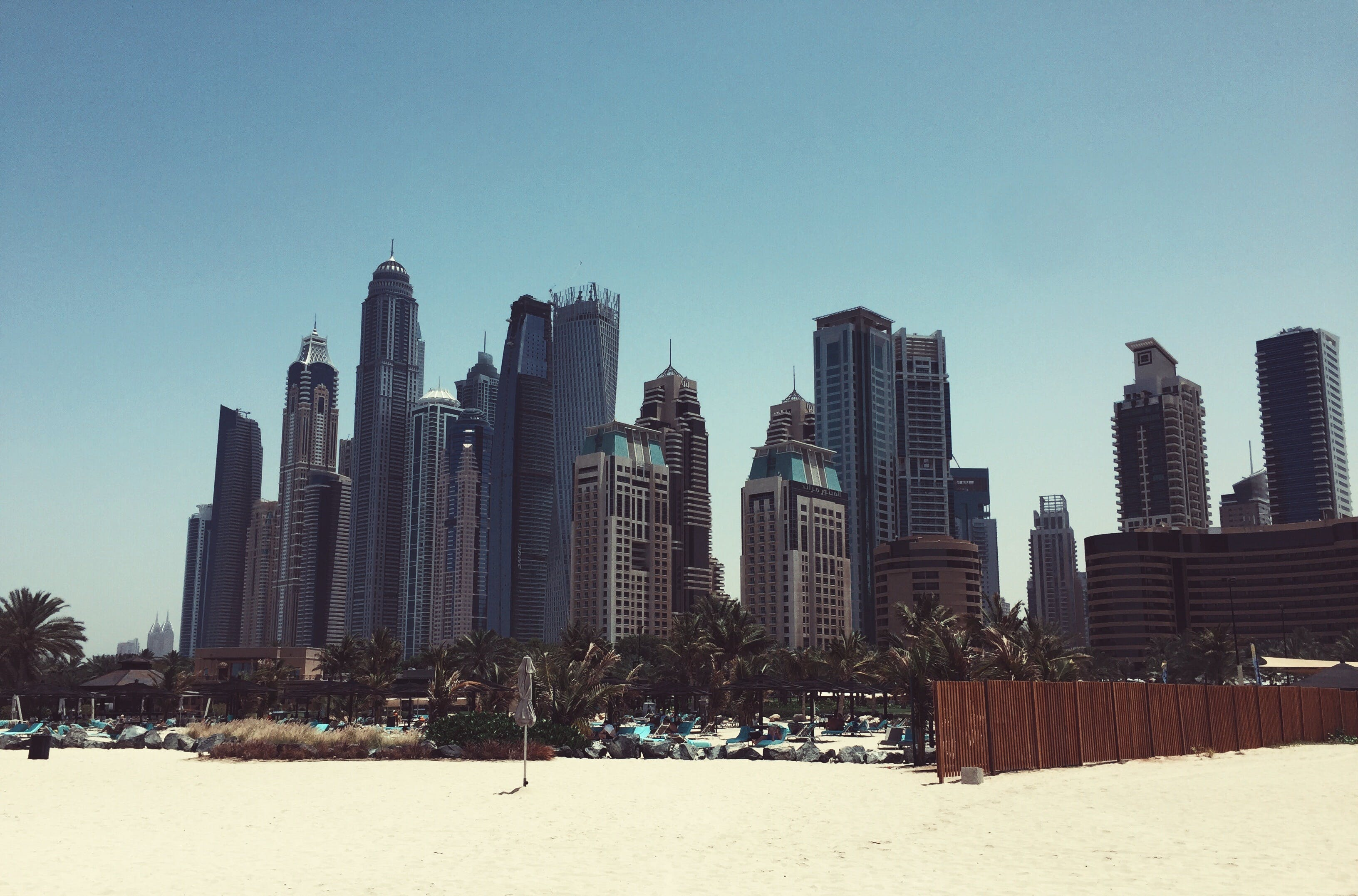 Free stock photo of beach, sand, skyscraper, dubai