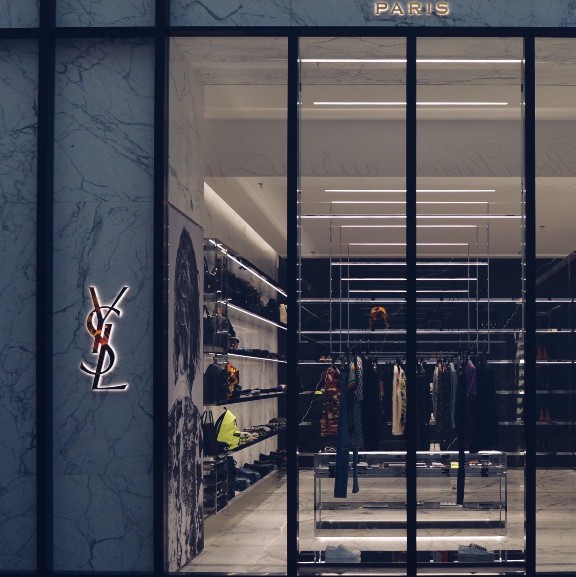 Free stock photo of boutique, luxury, mall, saint lauren