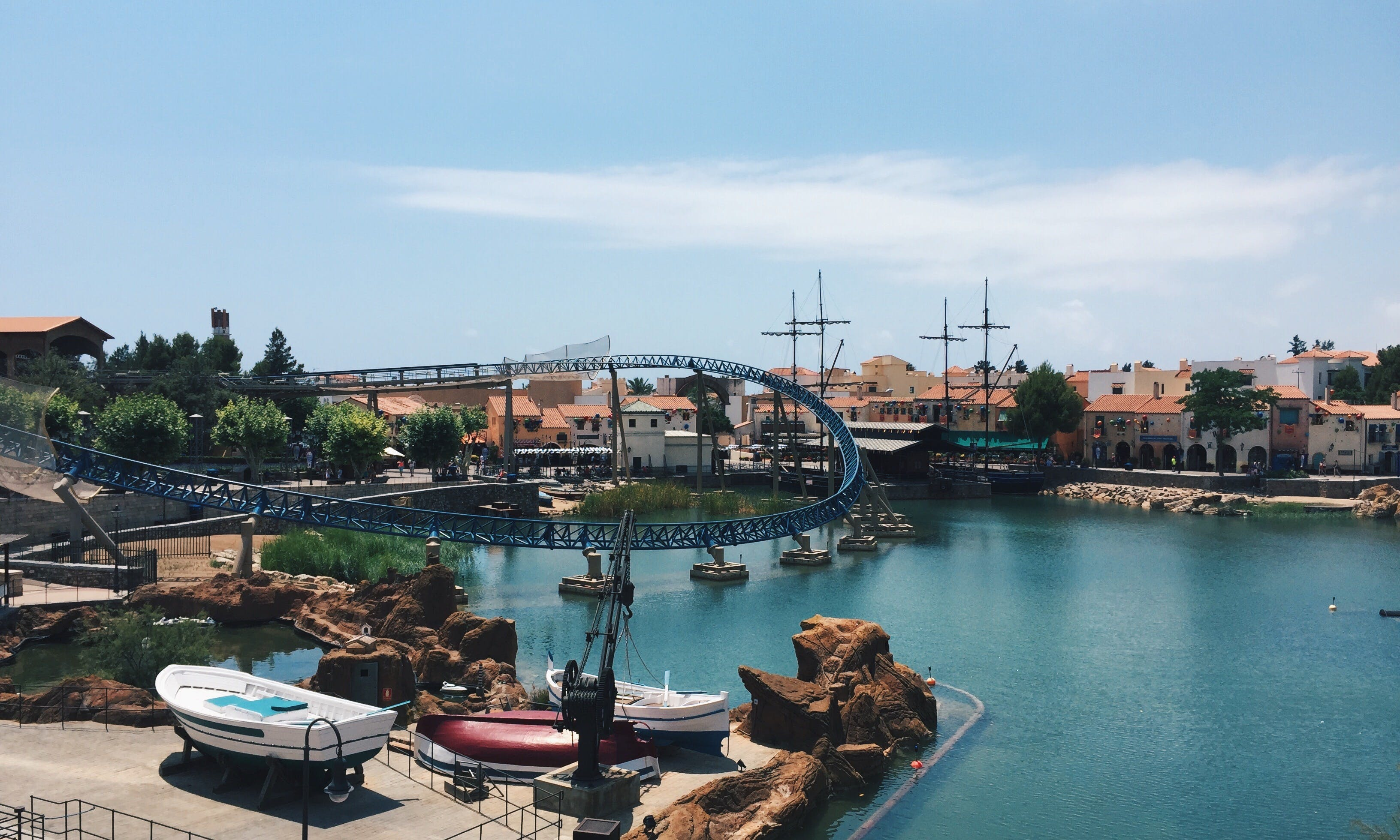 Free stock photo of adventure, adventure park, pool, portaventura