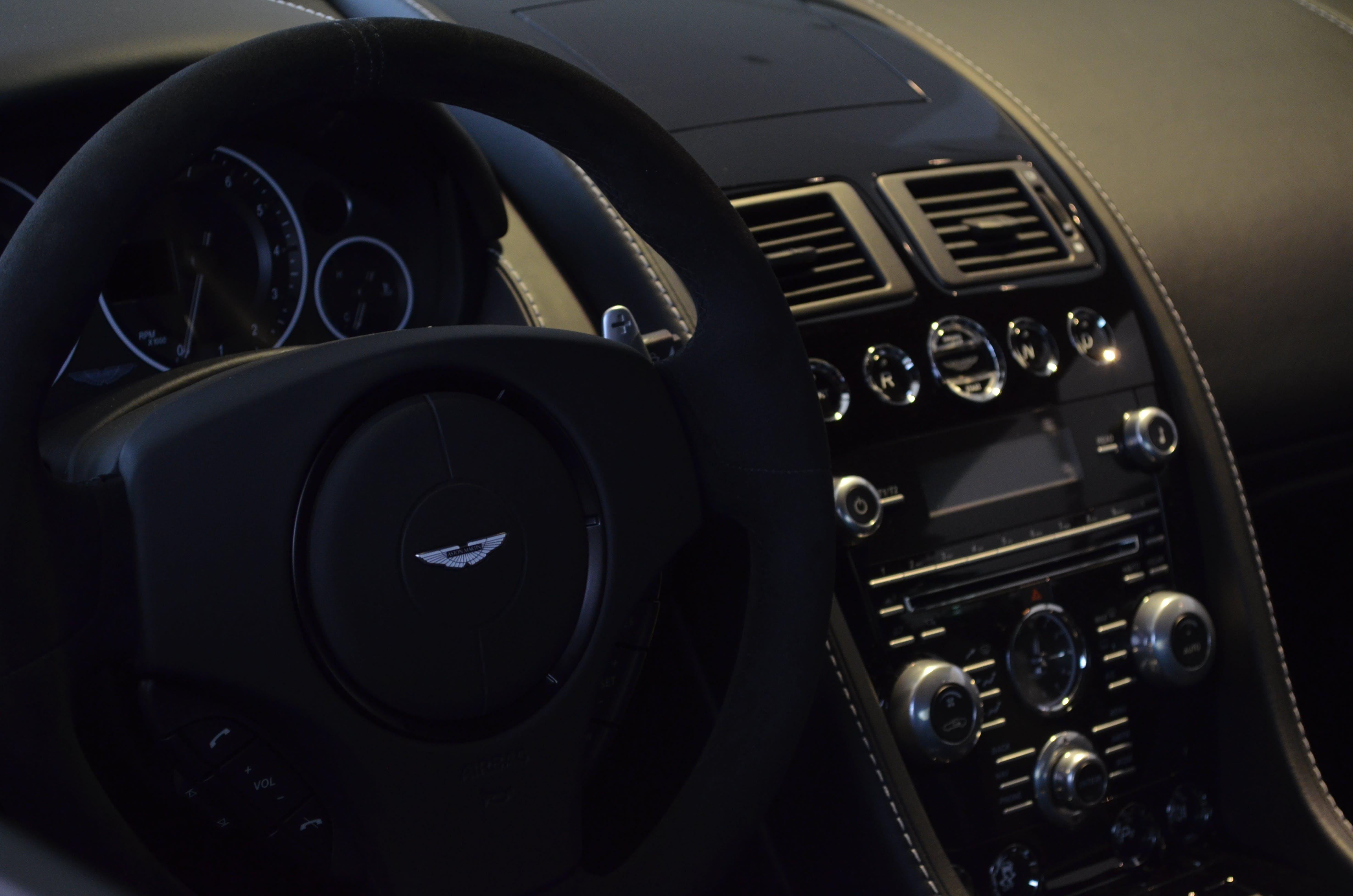 Free stock photo of aston martin, car, interiour