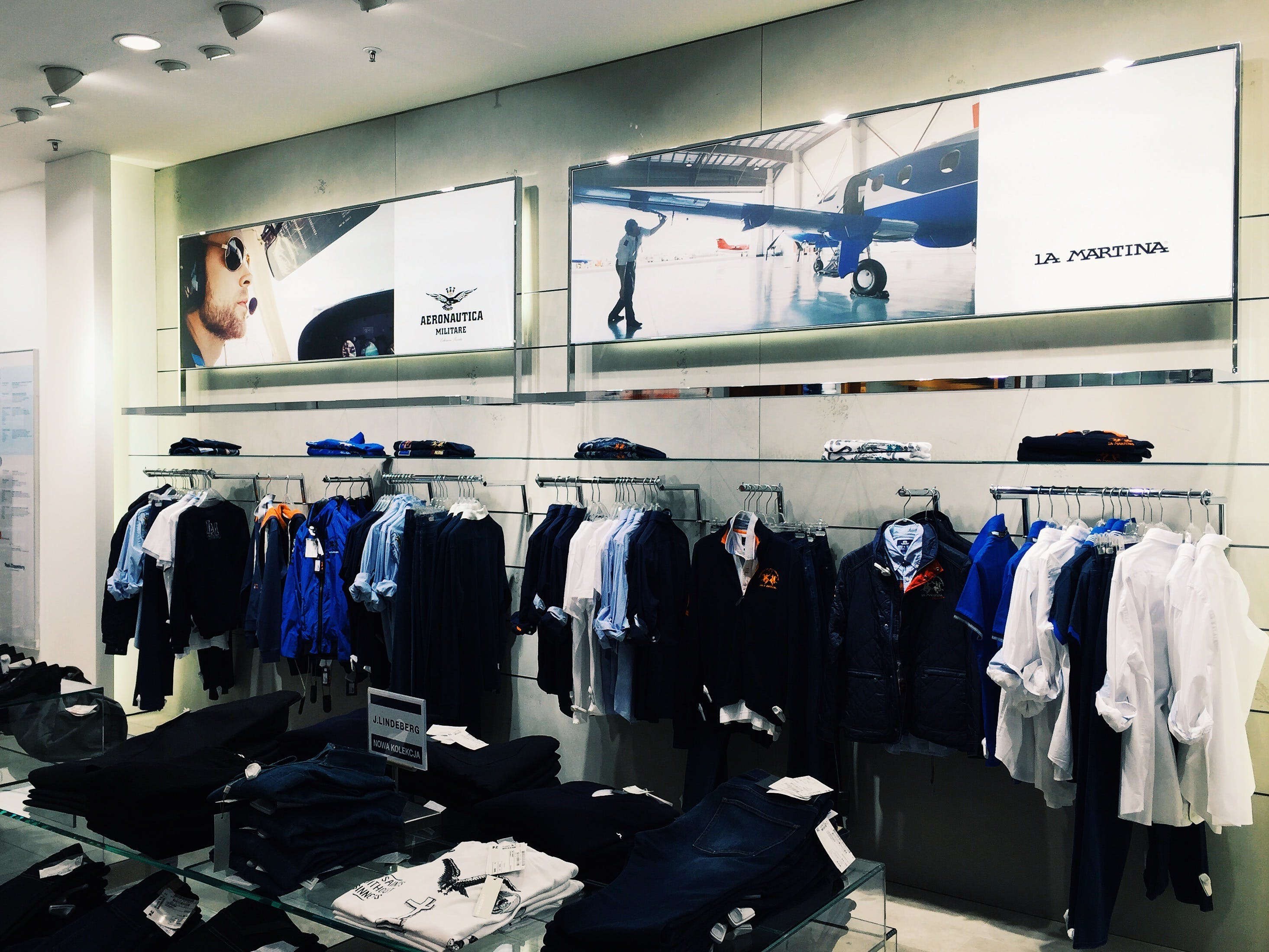 Clothes Hanging in Store