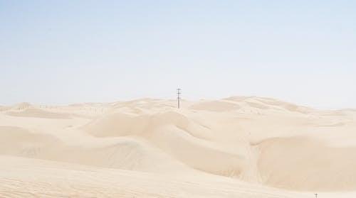 Gray Pole on Desert