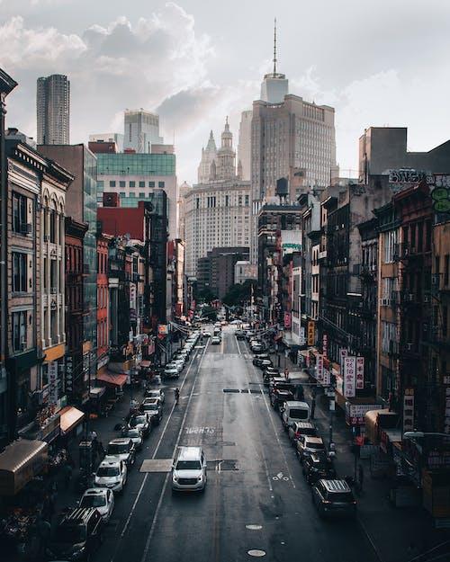 거리, 건물, 도로, 도시의 무료 스톡 사진