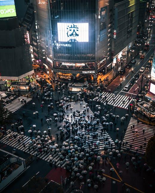 Aerial photo of people walking on road