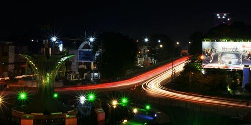 Free stock photo of #lighttrail #lampukendaraankota #nikon
