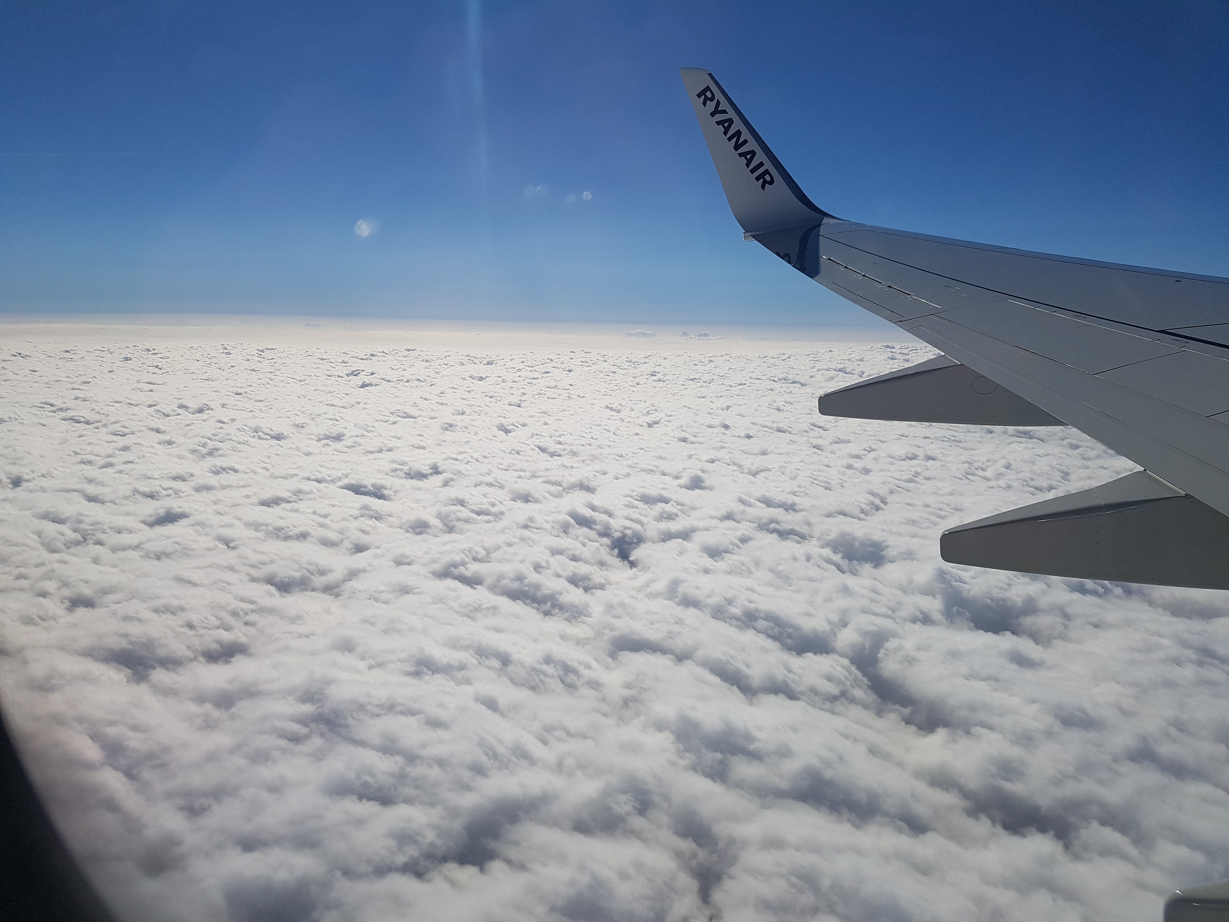 Free stock photo of above the clouds flying high