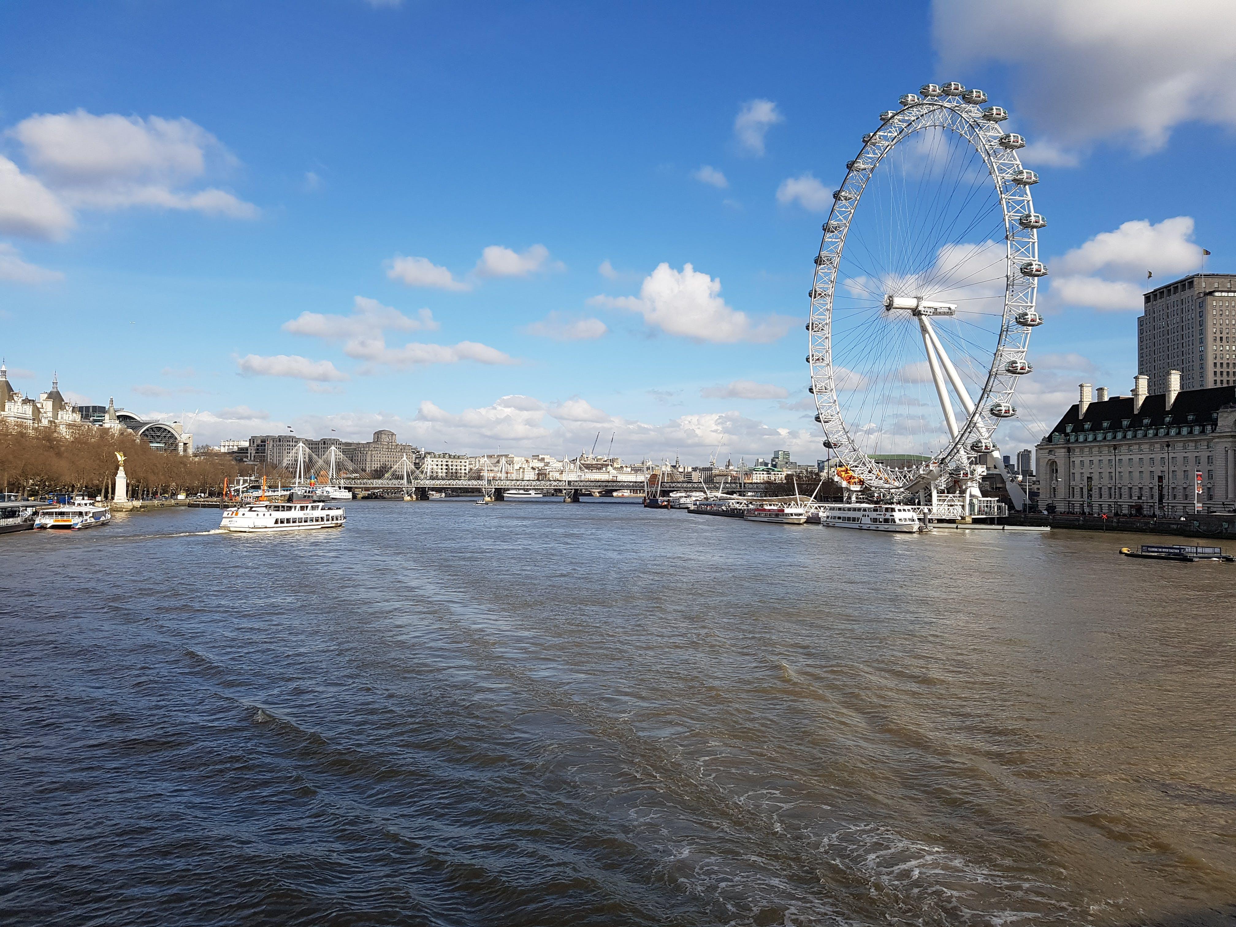 Free stock photo of Thames river view London Eye