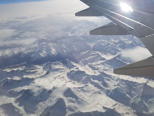 Základová fotografie zdarma na téma na letadle nad horami sníh
