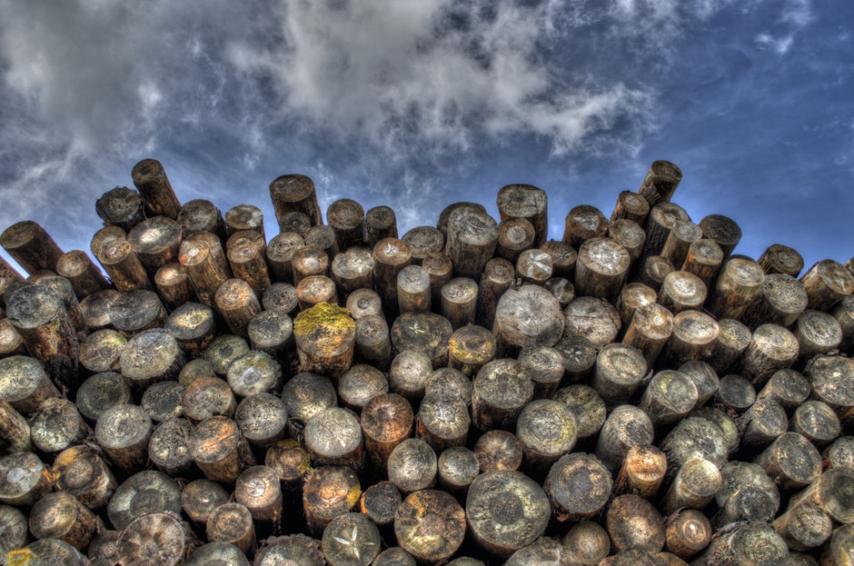 forestry, stack, stacked