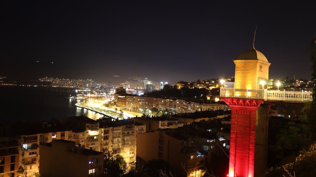 Бесплатное стоковое фото с вид на город, индейка, исторический лифт