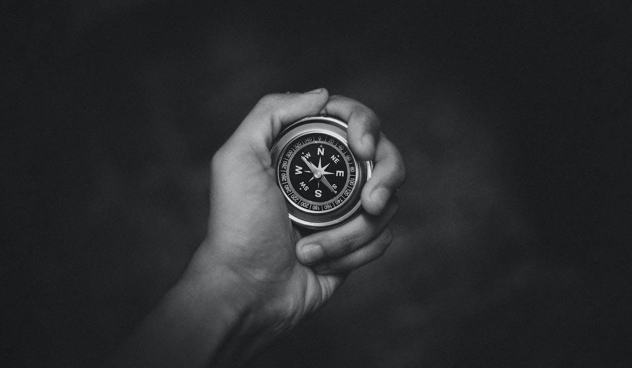 Round Analog Compass