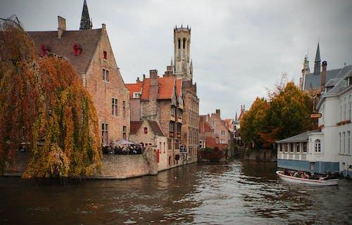 Fotos de stock gratuitas de arquitectura, barca, Bélgica, brugge bélgica