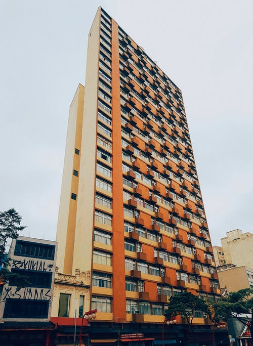 Architectural Photography of Brown and Yellow Building
