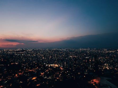 夜明けのベロオリゾンテのcity Scapeの空中ショット
