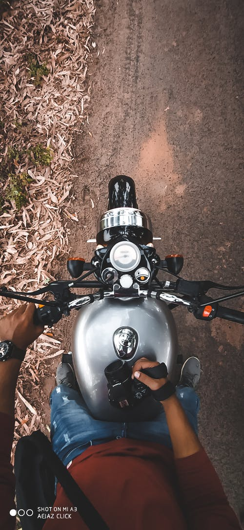 Free stock photo of bike, black camera, blue and red, farm
