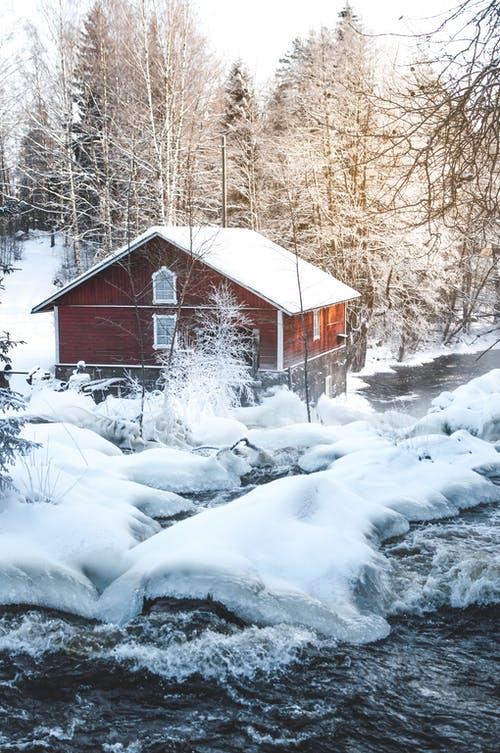 Imagine de stoc gratuită din apă, arbori, cascadă, cocioabă
