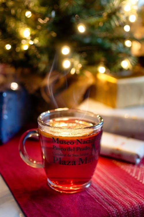 Imagine de stoc gratuită din băutură, cană, Crăciun, lumini