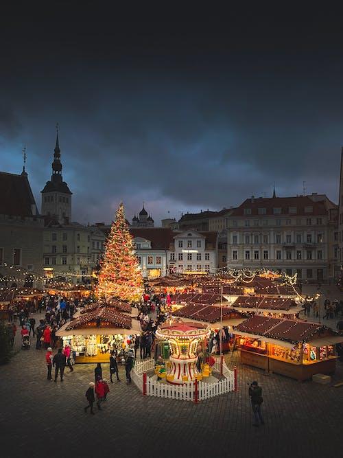 Imagine de stoc gratuită din centru vechi, Crăciun, Estonia, Europa