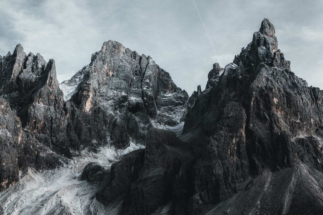 Mountains Under Grey Sky